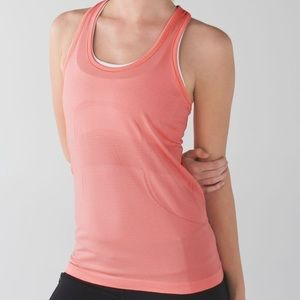 Lululemon swiftly Teck tank top coral heathered
